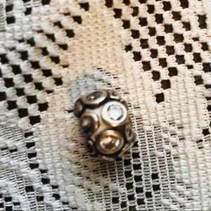 Pandora Silver Charm/Diamond CZ's 💫